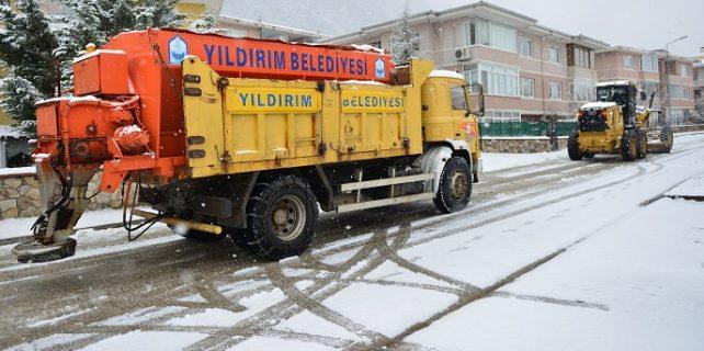 yıldırım belediyesi karla mücadele